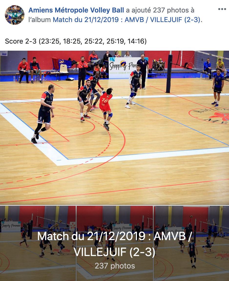 AMVB / US VILLEJUIF - 21 décembre 2019 - Coliseum, Amiens
